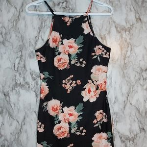 Ardenes Bodycon Mini Floral Dress